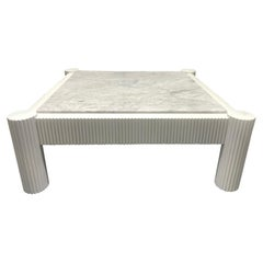 Carrara Marble-Top Coffee Table
