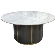 Carrara Marble-Top Table