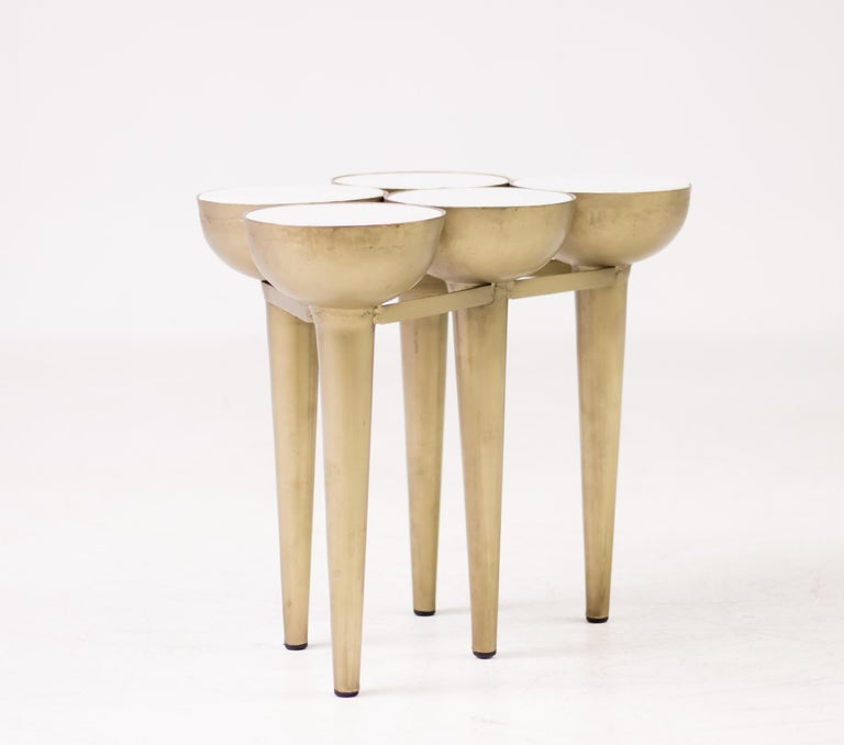 20th Century Carrara Marble Torch Table For Sale