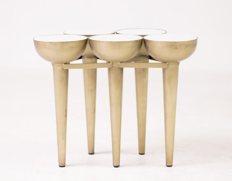 Carrara Marble Torch Table For Sale 1