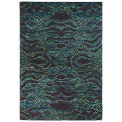 Carrara Medium Green and Blue Rug by Matteo Cibic