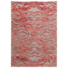 Carrara Medium Red and Gray Rug by Matteo Cibic