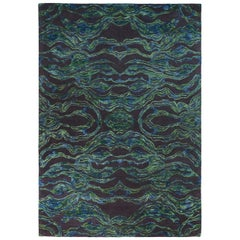 Carrara Small Green and Blue Rug by Matteo Cibic