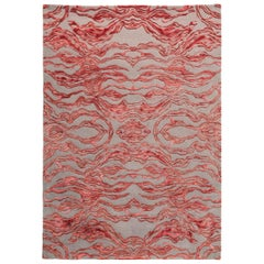 Carrara Small Red and Gray Rug by Matteo Cibic