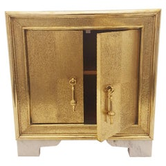 Carre Nightstand in Brass by Stephanie Odegard