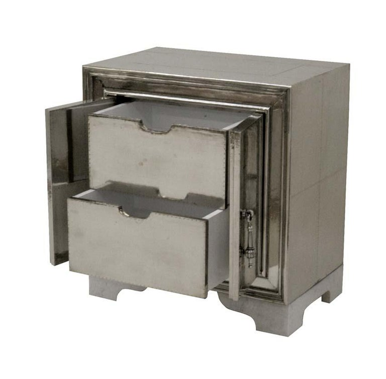 Other Carre Nightstand in White Bronze For Sale