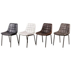 Carrera Contemporary Faux Leather Dining Chairs, 20th Century