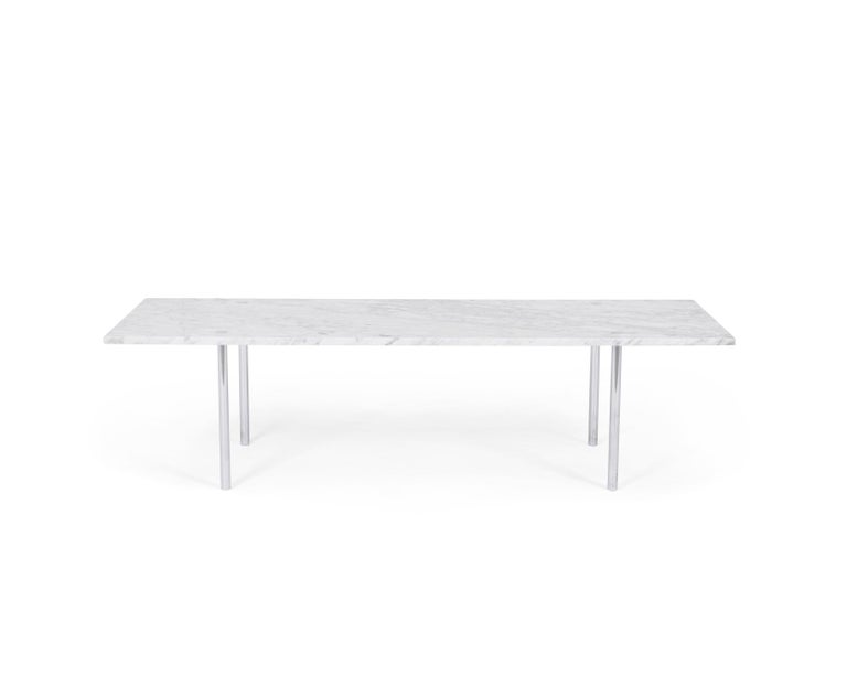 Carrara marble coffee table by William Katavolos, Ross Littel, and Douglas Kelly. Manufactured by Lavern International. Model 2-M, circa 1953.