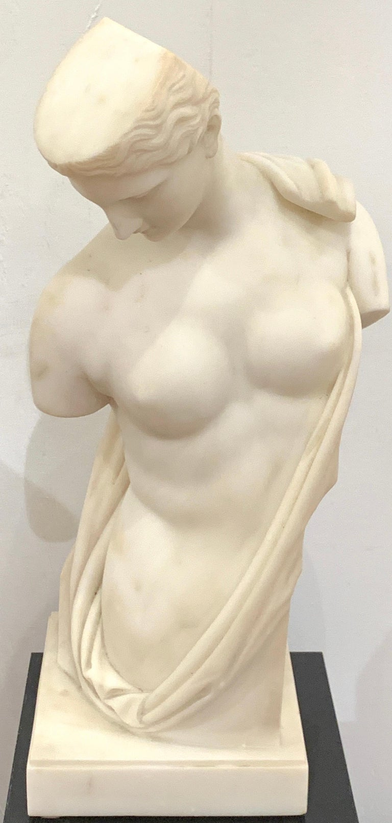 Carrera marble Grand Tour Torso of Venus, by Leone Clerici, Roma,1893 Leone Clerici, a marble half length figure of Venus, inscribed 'Clerici, Roma, 1893' Well listed artist, Leone Clerici, Known for his superb Grand Tour marble sculptures.