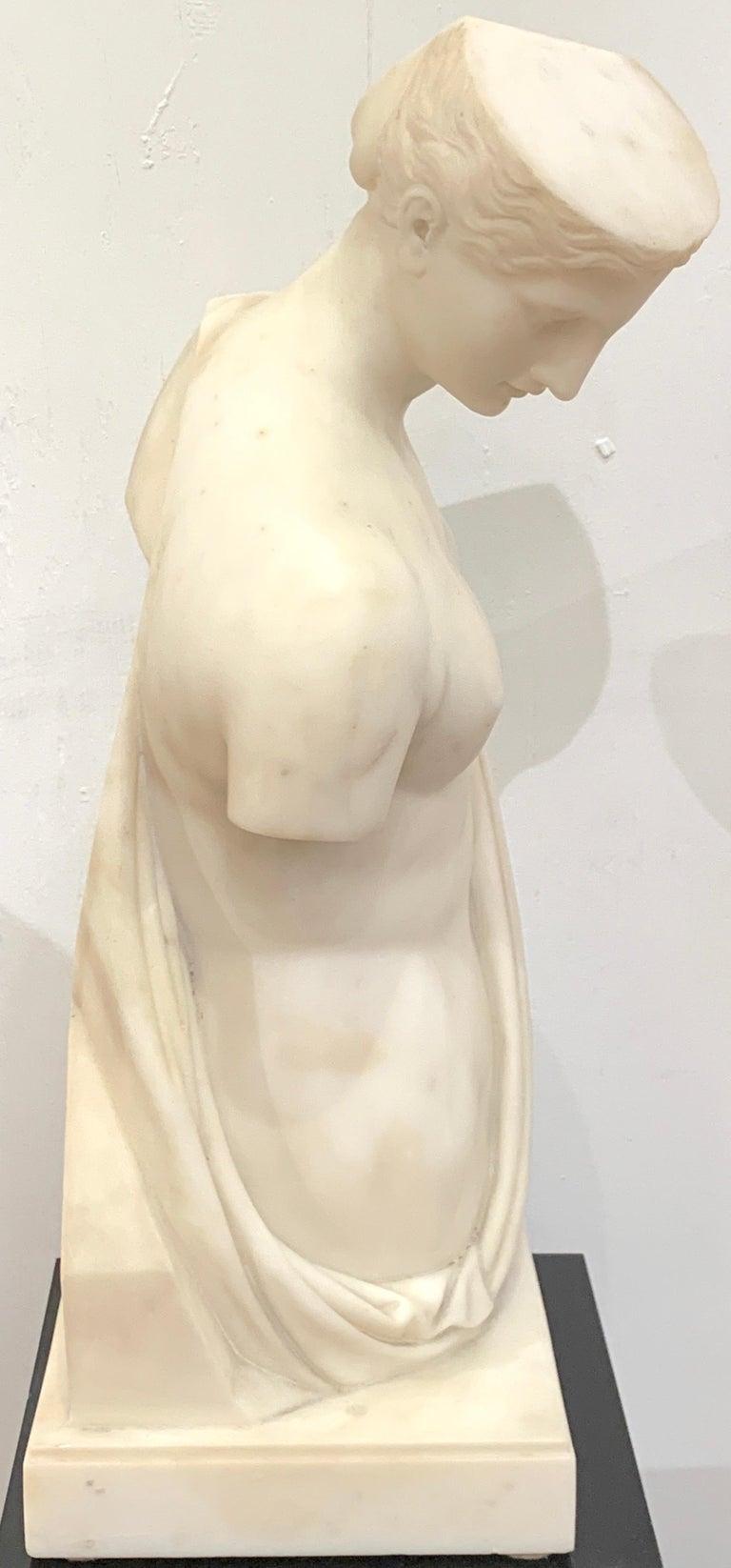 Carrera Marble Grand Tour Torso of Venus, by Leone Clerici, Roma, 1893 In Good Condition For Sale In Atlanta, GA
