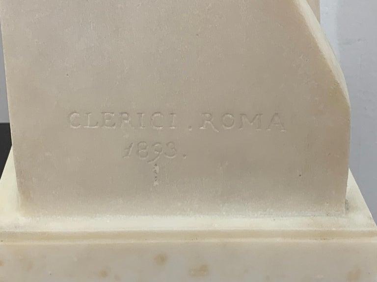 Carrara Marble Carrera Marble Grand Tour Torso of Venus, by Leone Clerici, Roma, 1893 For Sale