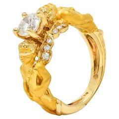 Carrera Y Carrera 0.75 Carat Diamond 18 Karat Yellow Gold Cupid Ring