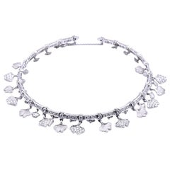 Carrera Y Carrera 14k White Gold Diamond Floral Necklace, Bracelet and Earrings