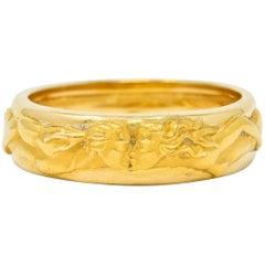 Carrera y Carrera 18 Karat Gold Promesa Unisex Band Ring, circa 2014