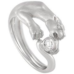 Carrera Y Carrera 18 Karat White Gold Diamond Panther Ring