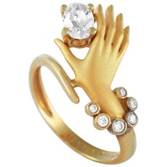 Carrera y Carrera 18 Karat Yellow Gold 0.60 Carat Diamond Hand Ring