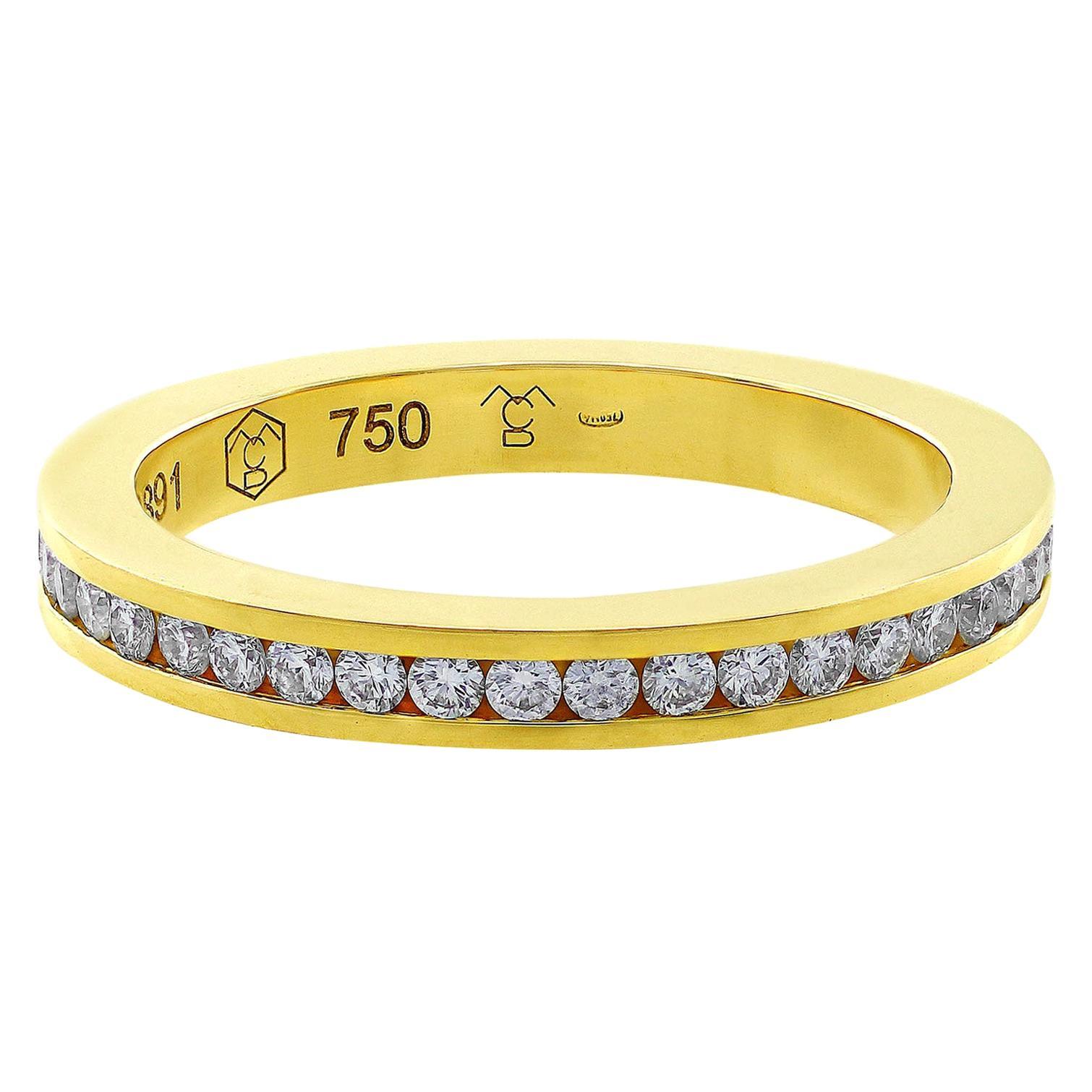 Carrera y Carrera 18 Karat Yellow Gold Diamond Eternity Band
