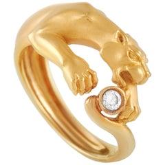 Carrera y Carrera 18 Karat Yellow Gold Diamond Panther Ring