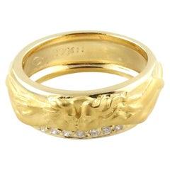 Carrera y Carrera 18 Karat Yellow Gold Kissing Couple Diamond Band w/box