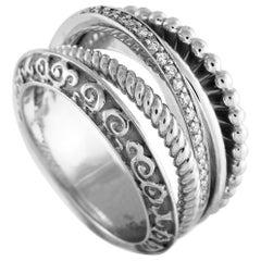 Carrera y Carrera 18 Karat White Gold Diamond Ring