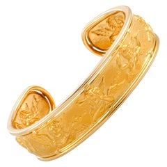 Carrera y Carrera 18 Karat Yellow Gold Angels Cuff Bracelet