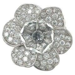 Carrera Y Carrera 18KT White Gold 1.94Ct. Diamond Gardenia Flower Ring
