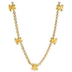 Carrera y Carrera 18 Karat Yellow Gold Frog Necklace