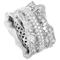 Carrera y Carrera Cervantes 18 Karat White Gold 0.74 Carat Diamond Ring
