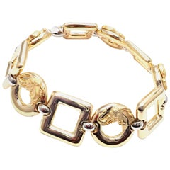 Carrera Y Carrera Diamond Elephant Yellow and White Gold Link Bracelet