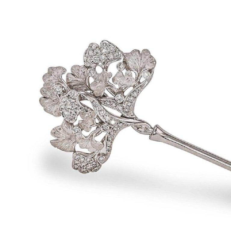 Carrera y Carrera Diamond Flower Bouquet Brooch For Sale 1
