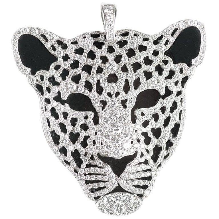 Carrera y Carrera Diamond Leopard Pendant Necklace For Sale