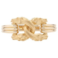Carrera y Carrera Equestrian Horse Bust Band Yellow Gold, 18k Stirrup Knot Ring