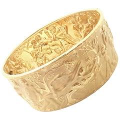 Carrera Y Carrera Eros Wide Yellow Gold Bangle Bracelet