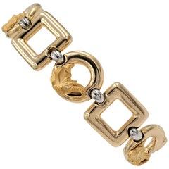 Carrera y Carrera Gold Elephant Motif Link Bracelet