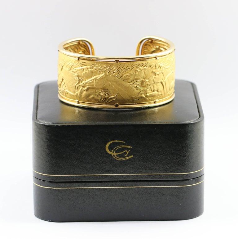 Carrera y Carrera Gold Wild Horse Cuff In Excellent Condition For Sale In Blue Ridge, GA