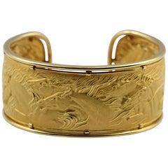 Carrera y Carrera Gold Wild Horse Cuff