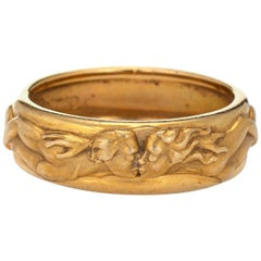 Carrera y Carrera Kissing Ring Estate 18 Karat Yellow Gold Promesa Band