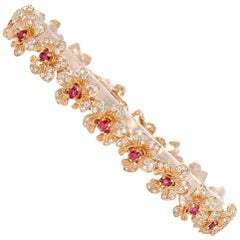 Carrera y Carrera Seda Imperial Collection Orquidea Diamond and Ruby Bracelet