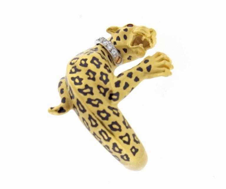 Women's or Men's Carrera y Carrera Spotted Leopard Diamond Ring
