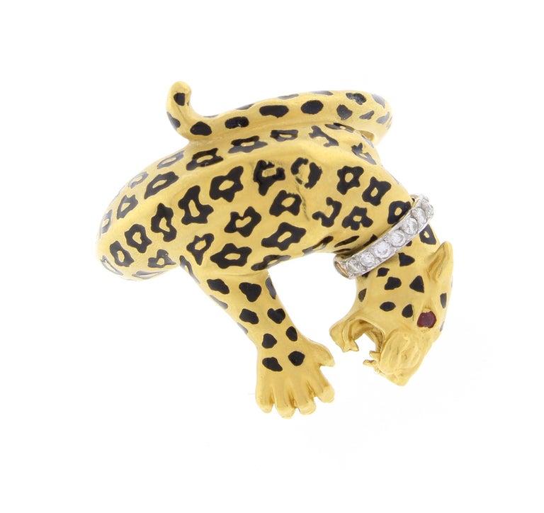 Carrera y Carrera Spotted Leopard Diamond Ring 1