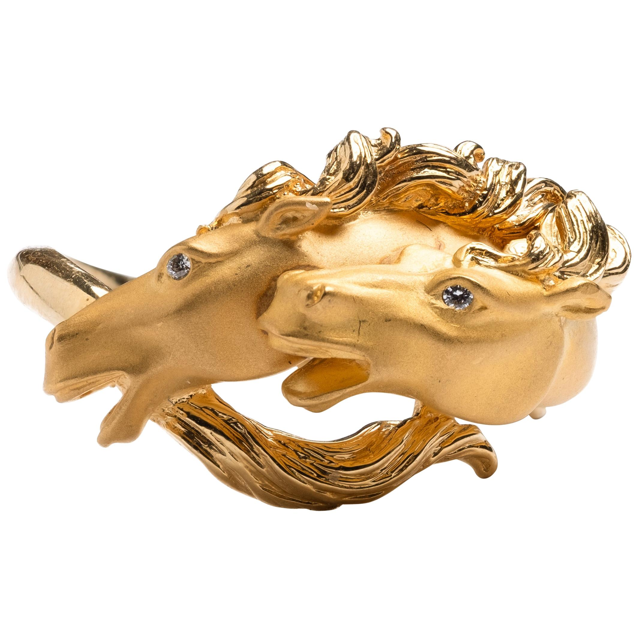 Carrera y Carrera Vintage 18k Gold Diamond Ring