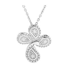 Carrera y Carrera White Gold Cross Pendant Necklace