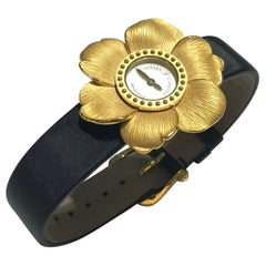 Carrera Y Carrera Yellow Gold Gardenias Collection Manual Wind Wristwatch
