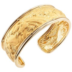 Carrera y Carrera Yellow Gold Horse Cuff Bracelet
