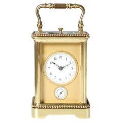 Carriage Clock, Pendulette de Voyage, France, circa 1900, Alarm and Hour Repeat