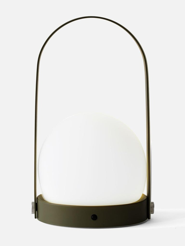 Scandinavian Modern Carrie Led Lamp, Olive by Norm Architects For Sale
