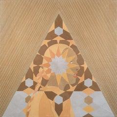 """Alchemy"" acrylic painting, woman, gold"