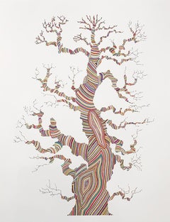 """""""Growth"""" rainbow lines tree pattern colorful nature"""