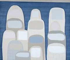 """""""Middles"""" archival pigment print blue white fingers abstract"""