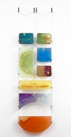Carrie McGee - Luna - multicolor hanging wall sculpture